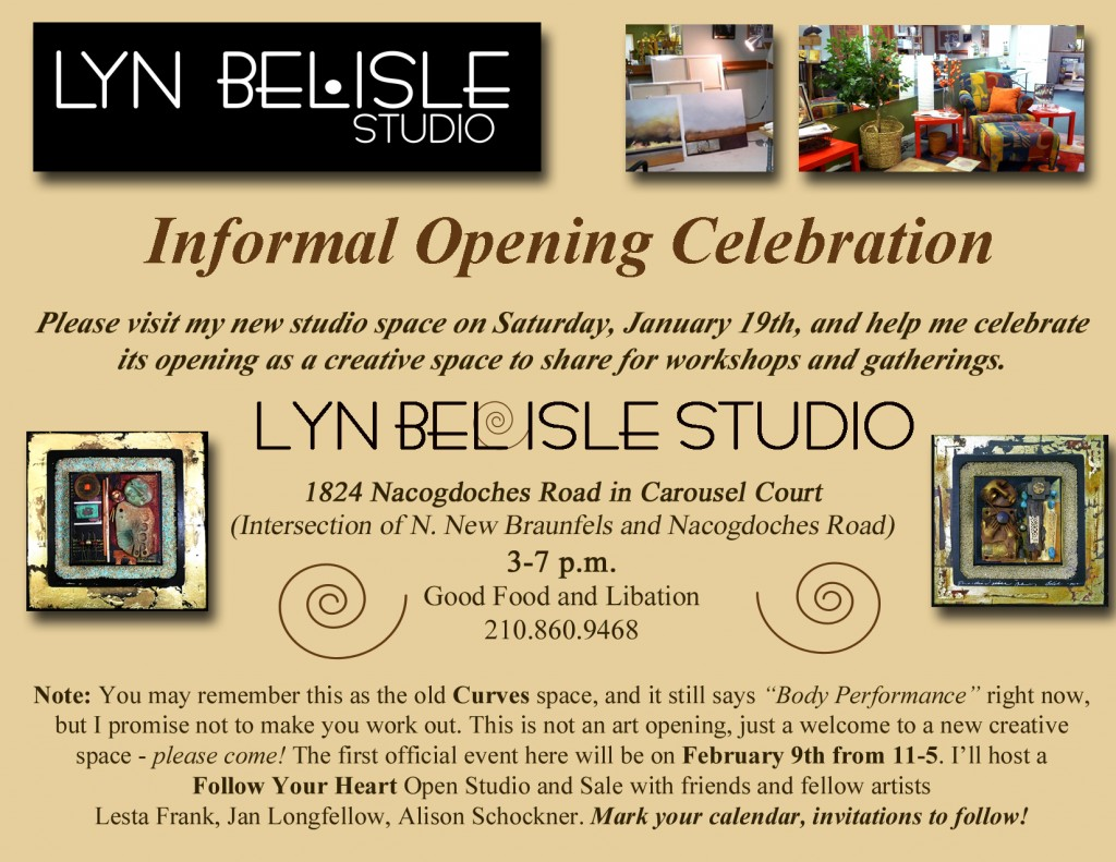 Studio opening - you're invited!