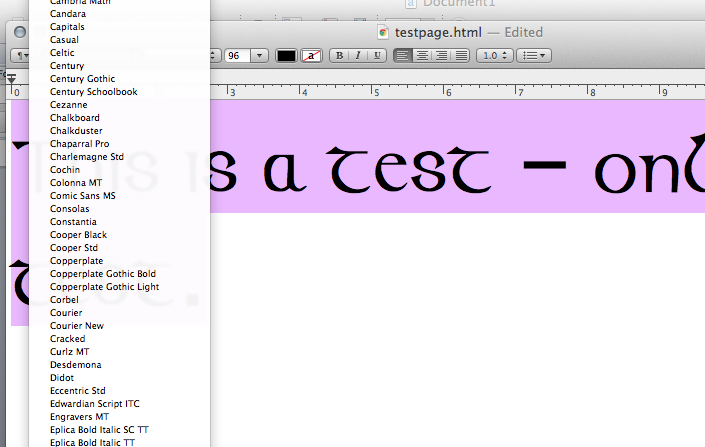 Mac Fonts 101 | SHARDS: fragments and reflections