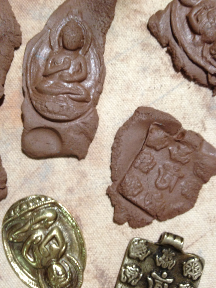 More molded clay objects - the mold makes the clay oily - weird