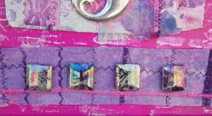 Sheri Lenora's painted crinoline fabric