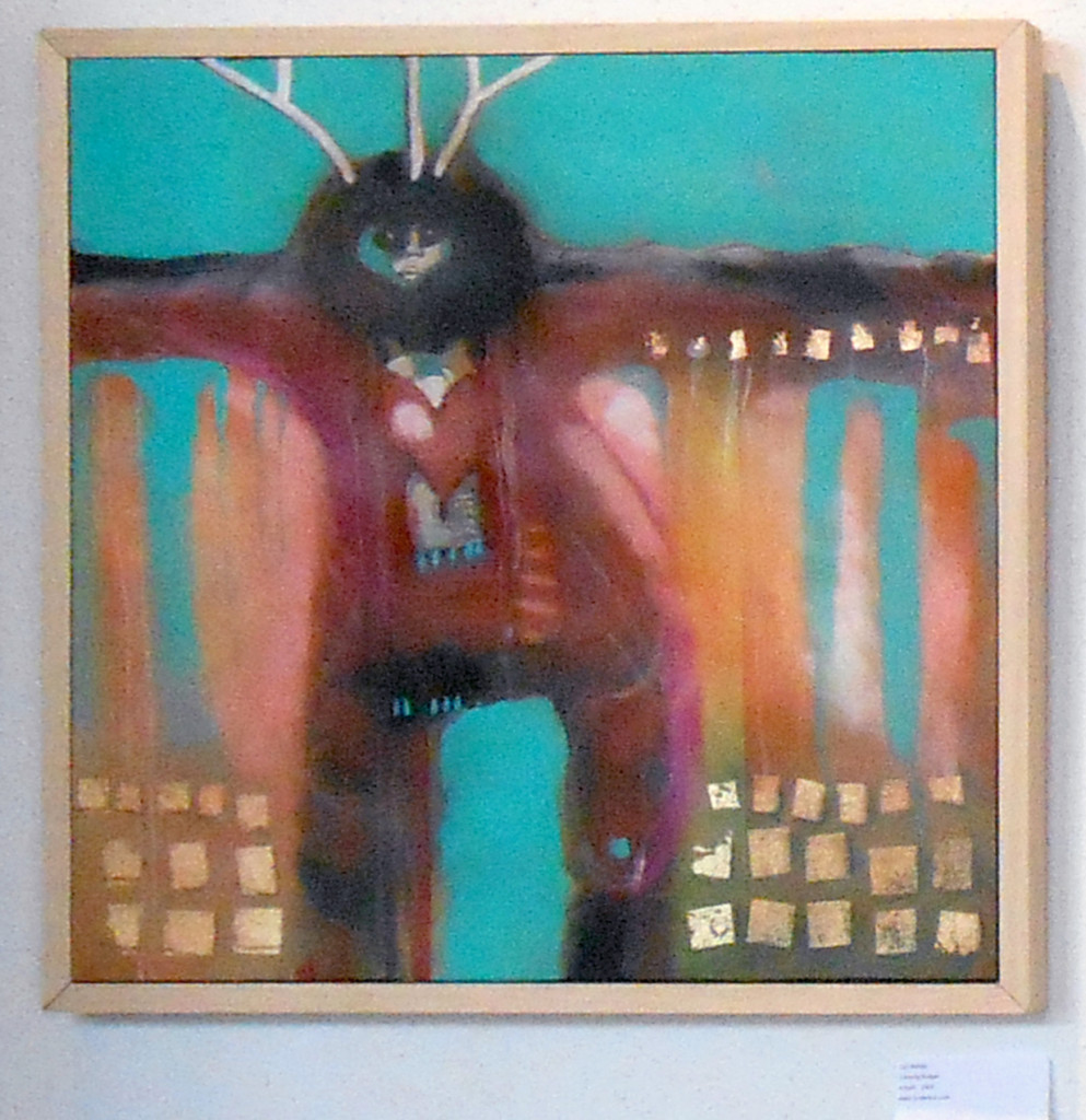 "Lyn Belisle, Badger Dancer, 30x30"", Acrylic 2014"