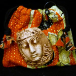 Kantha Cloth Bag with Florentine Shard Face