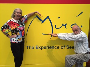 Good friends Beverly and Pablo Solomon pay homage to the mater, Miro - what an exhibit!