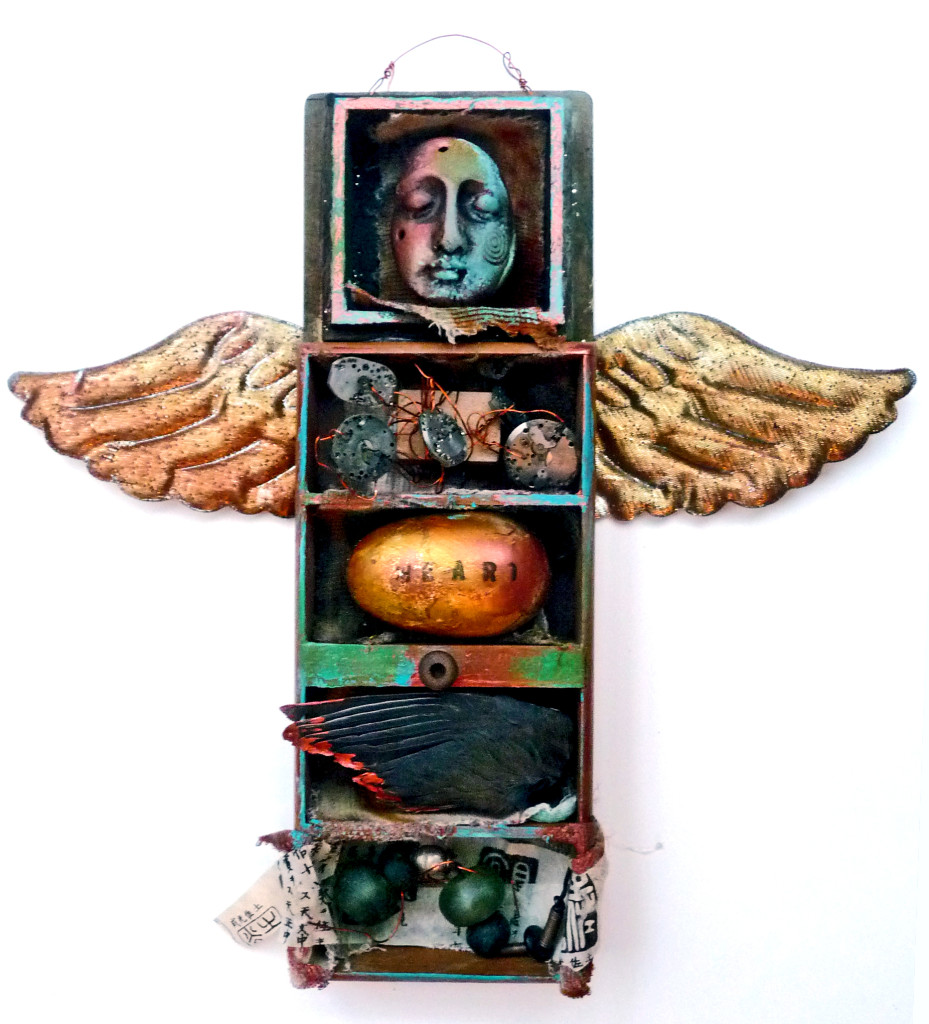 HeART of Time: mixed media assemblage by Lyn Belisle