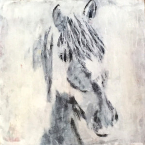 I am now the proud owner of one of those Clare O'Neill brought one of her iconic works as a gift for me - I am thrilled! His name is Pasta, and he is a wild mustang - wow!