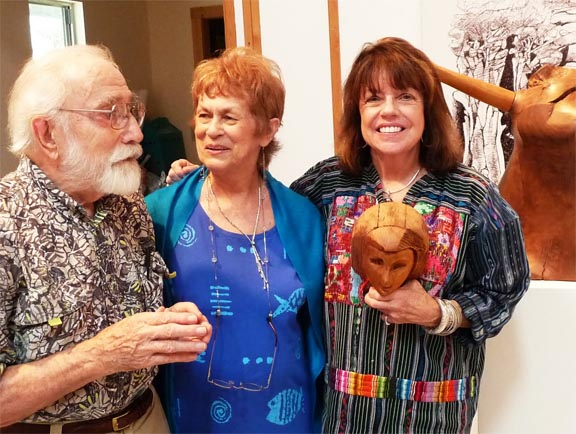 Phil and Joanne Evett with Lyn Belisle, Blanco, Texas 2010