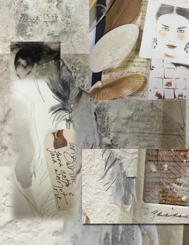 A collection of pale papers by Lyn and Lesta