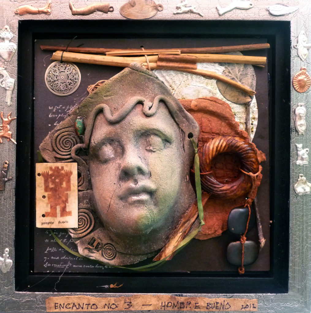 Lyn Belisle Assemblage with earthenware and mixed media 2012
